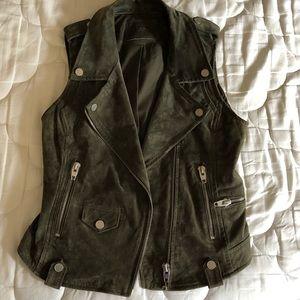 BlankNYC Leather motto vest